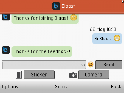 Blaast Messenger for Java - Opera Mobile Store