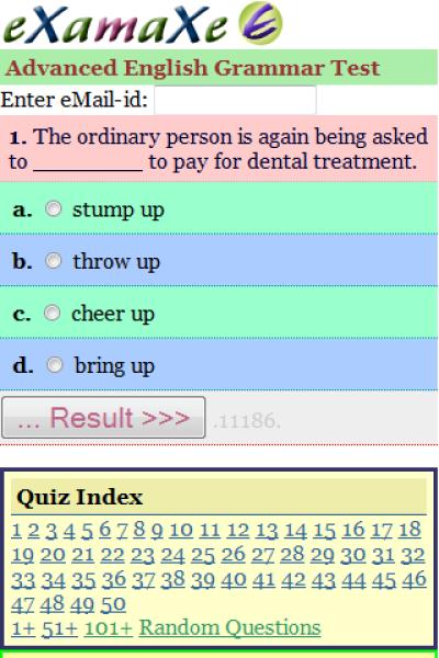 Advanced English Grammar Test for Java - Opera Mobile Store