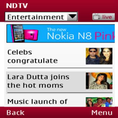 NDTV News for Java - Opera Mobile Store