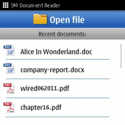 For pdf 240x320 reader java