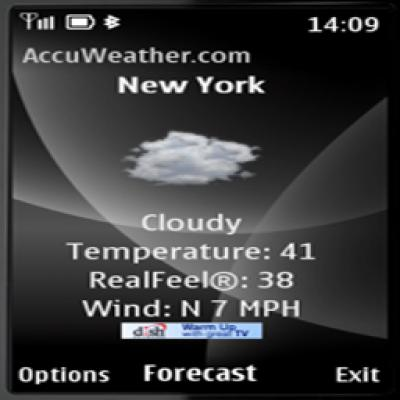 AccuWeather com for S40 for Java - Opera Mobile Store
