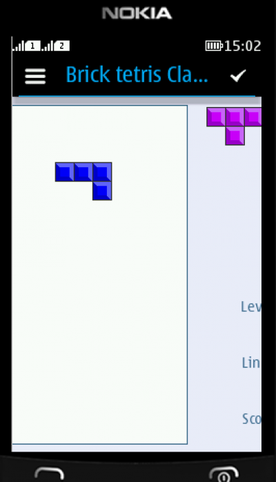 Brick tetris Classic for Java - Opera Mobile Store